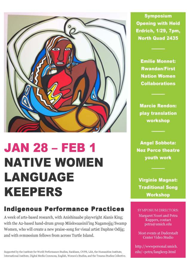Poster Native Women Language Keepers