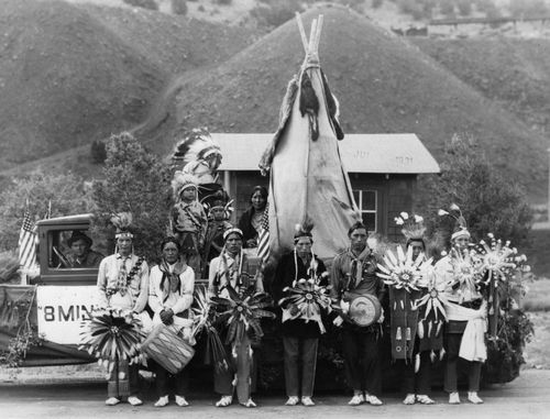 Taos Pueblo -- Madrid Fourth of July 1930 Float