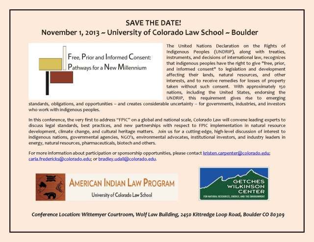 Colorado Law FPIC Save the Date