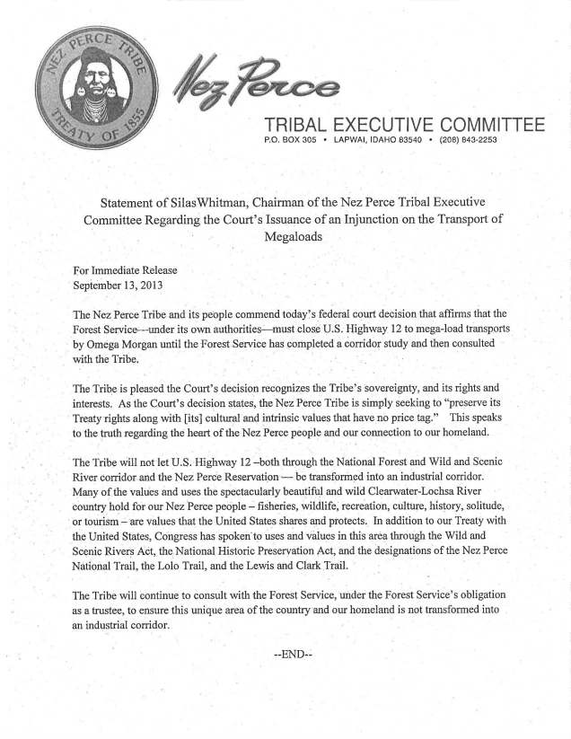 NPT Press Release