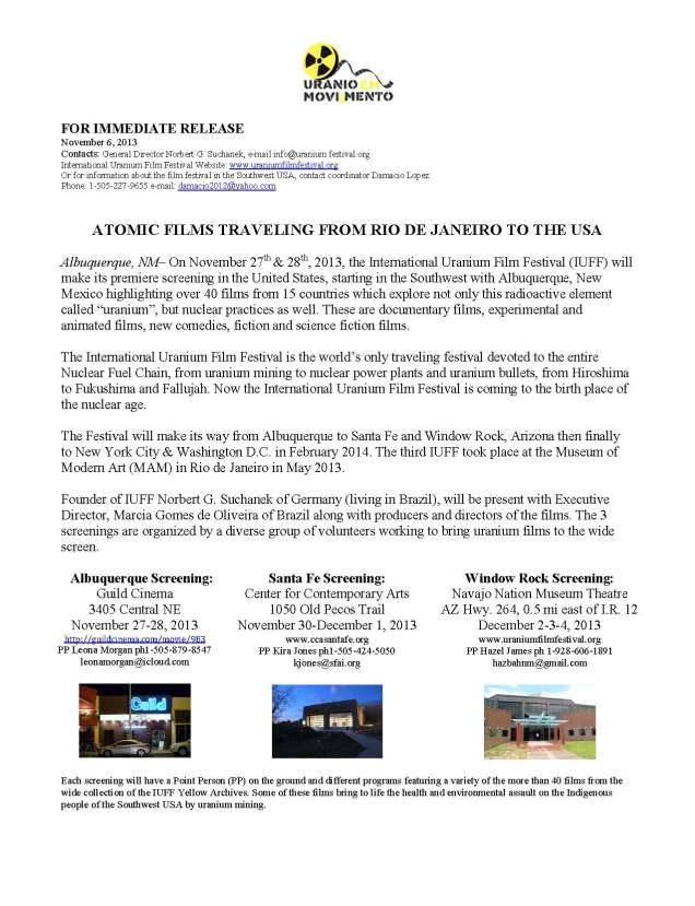 Nov  6 2013-IUFF PRESS RELEASE
