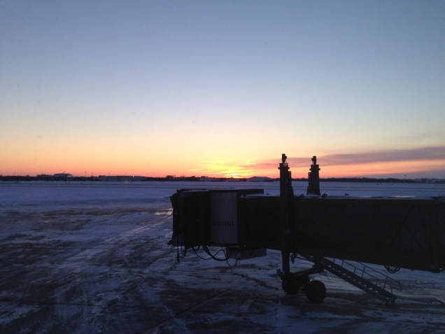 Sunset at Sioux Falls Airport