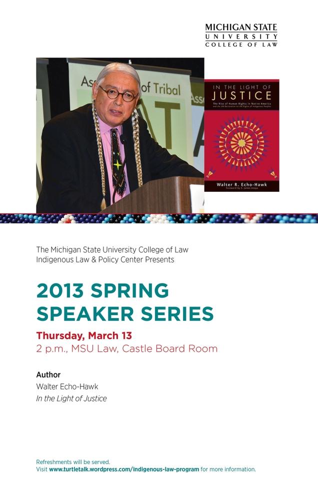 MSU Law Spring Speaker Hawk Poster