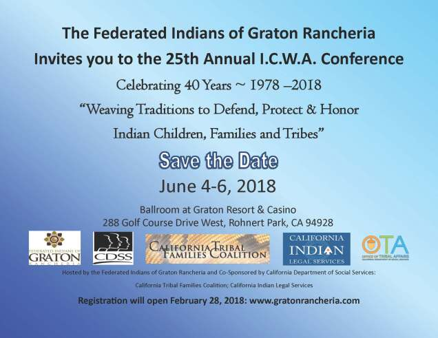 ICWA Conference - Save the Date