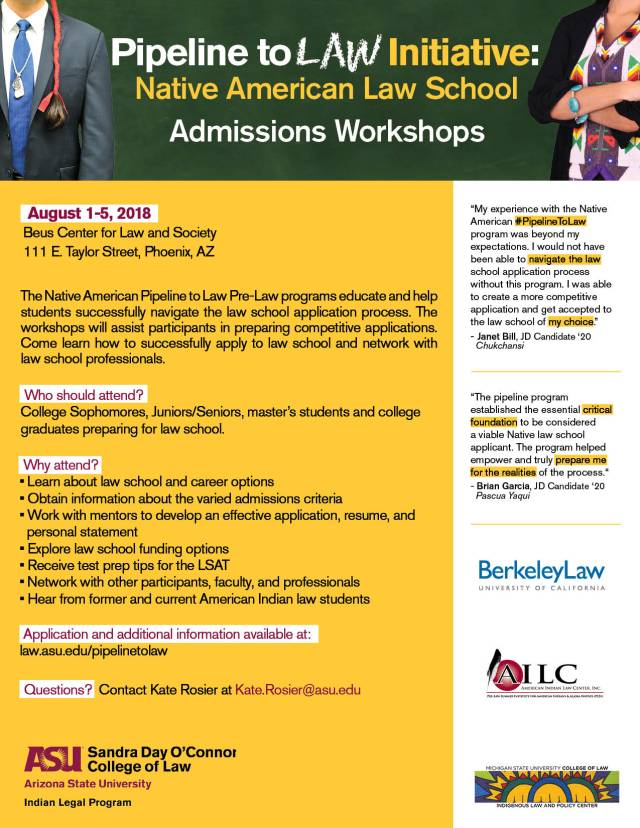 Pipeline To Law Workshops - ASU 2018