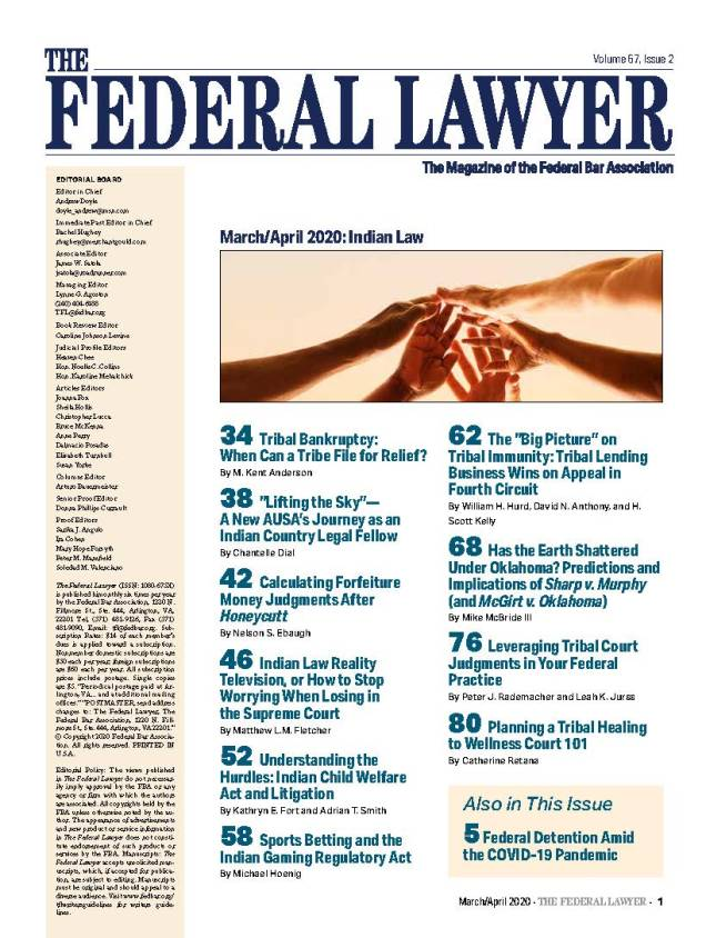 Federal Lawyer 2020 TOC