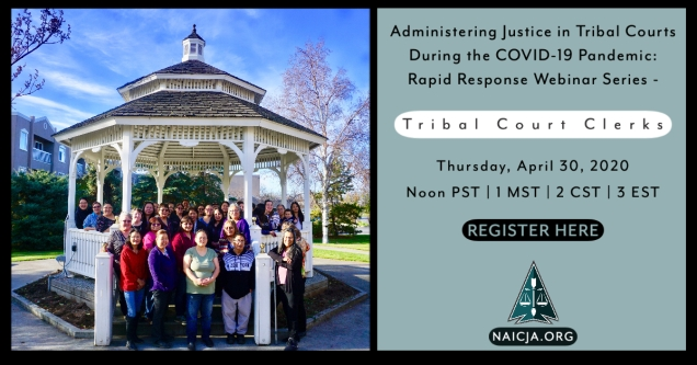 Tribal Court Clerks Webinar 52120