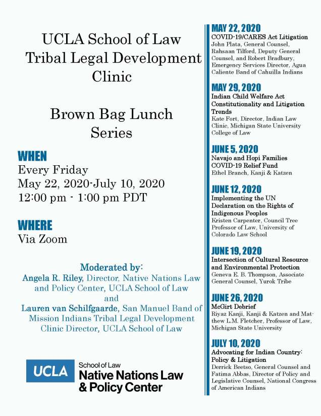 UCLA TLDC Brown Bag Series 2020