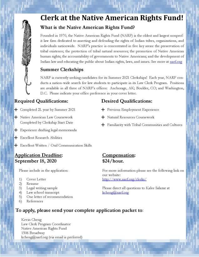 2021 Law Clerk Flyer