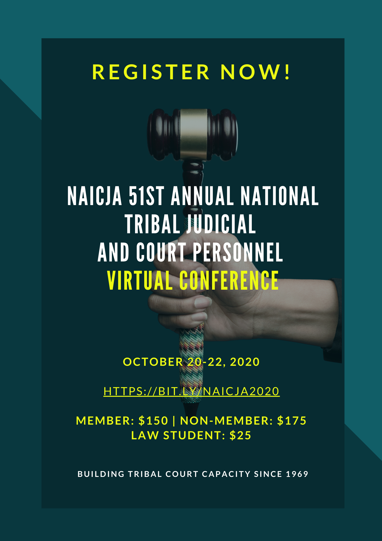 NAICJA Register Now Poster