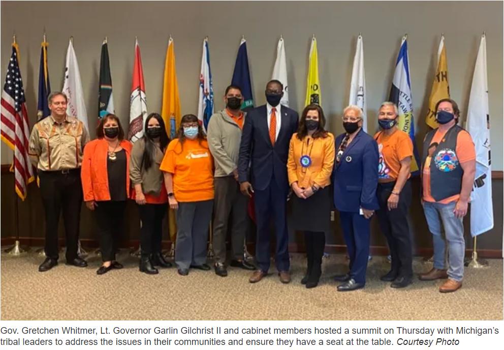 Gov. Whitmer meets Tribal Leaders